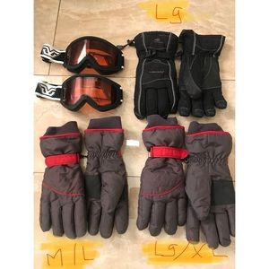 Accessories - Snow gloves and glasses bundle